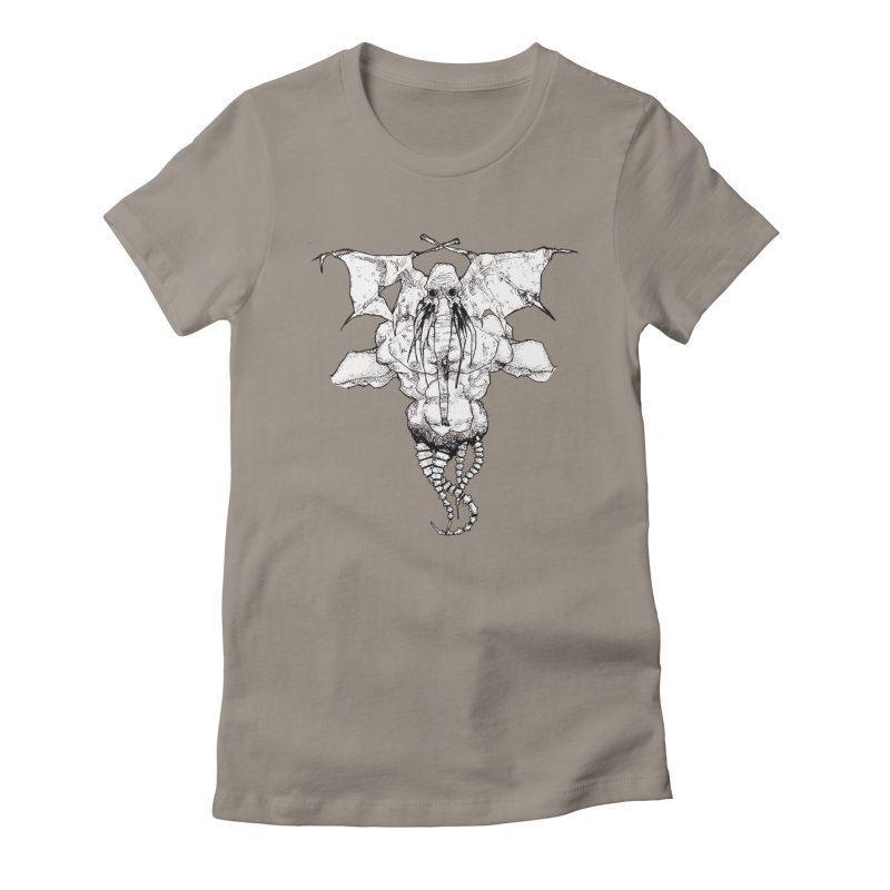 The Memory of an Elephant Women's Fitted T-Shirt by Katiecrimespree's Ye Olde Shirt Shoppe