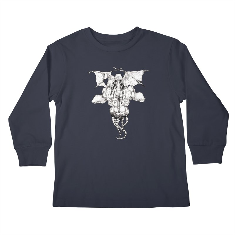 The Memory of an Elephant Kids Longsleeve T-Shirt by Katiecrimespree's Ye Olde Shirt Shoppe