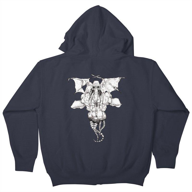 The Memory of an Elephant Kids Zip-Up Hoody by Katiecrimespree's Ye Olde Shirt Shoppe