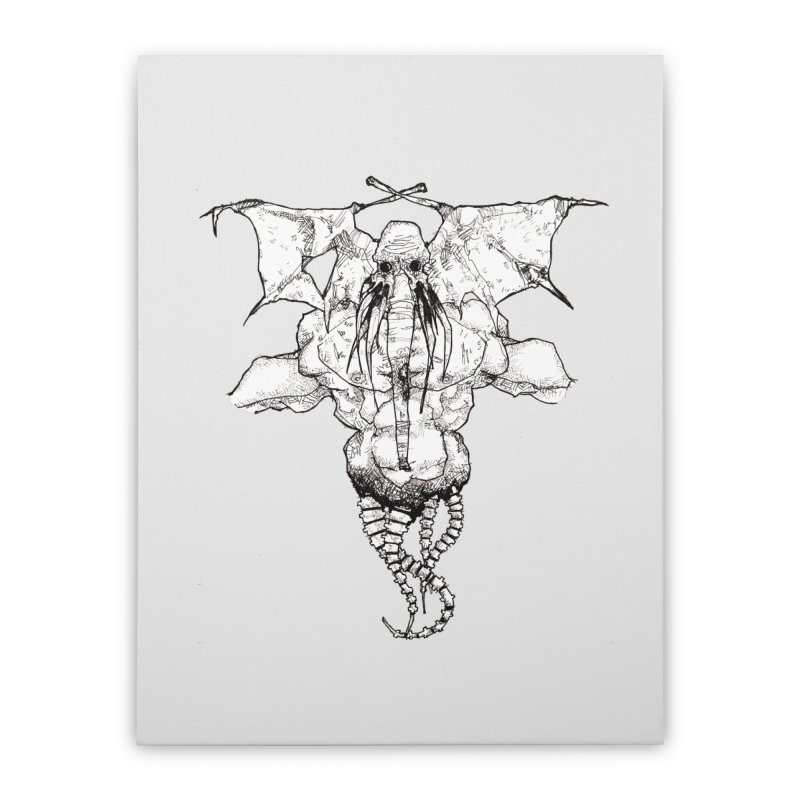 The Memory of an Elephant Home Stretched Canvas by Katiecrimespree's Ye Olde Shirt Shoppe