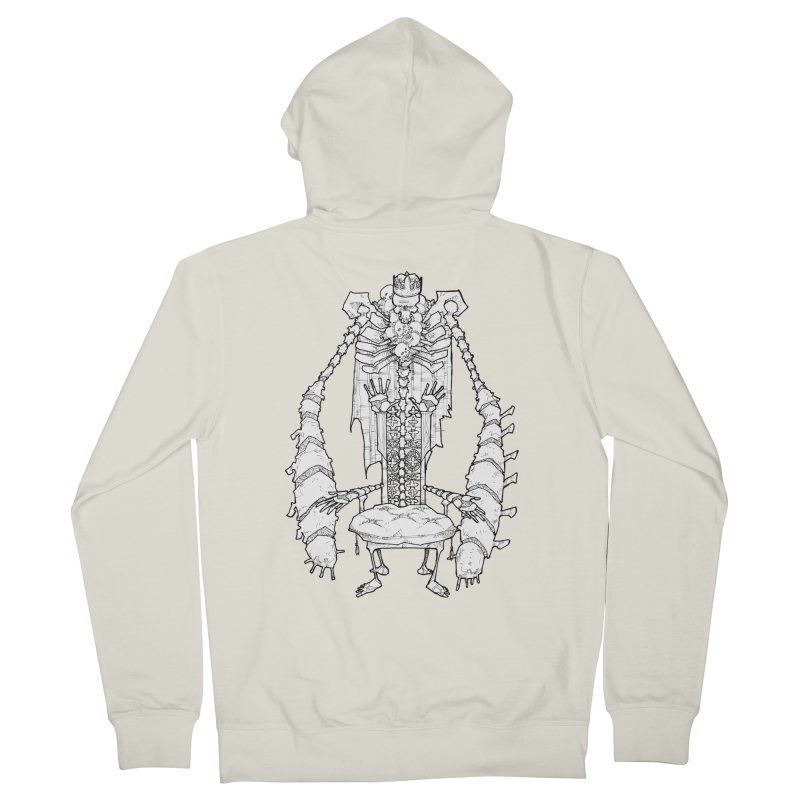 Your Throne. Women's French Terry Zip-Up Hoody by Katiecrimespree's Ye Olde Shirt Shoppe