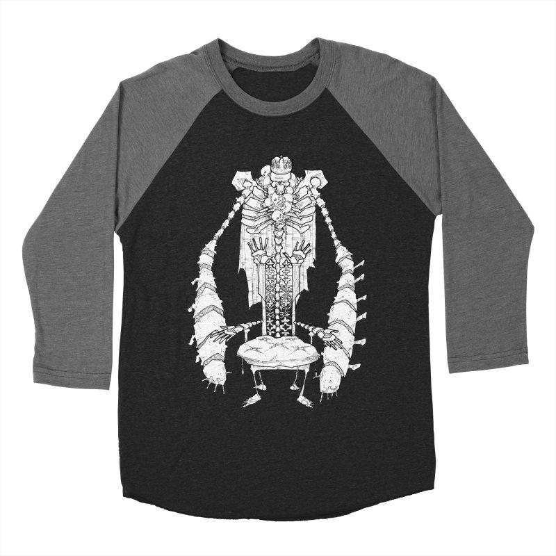 Your Throne. Men's Baseball Triblend Longsleeve T-Shirt by Katiecrimespree's Ye Olde Shirt Shoppe