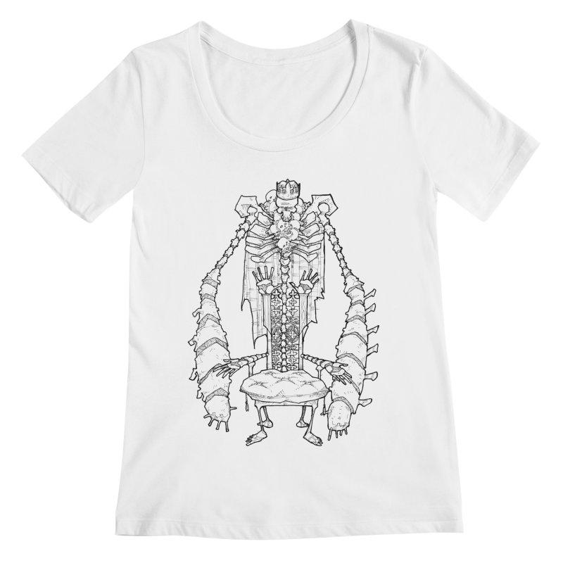 Your Throne. Women's Regular Scoop Neck by Katiecrimespree's Ye Olde Shirt Shoppe