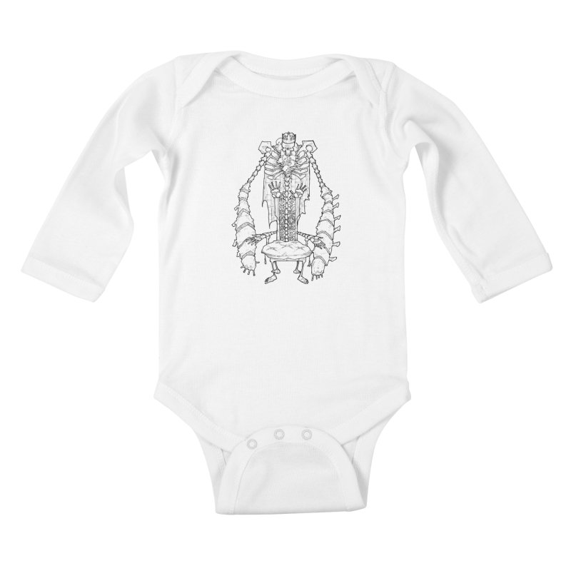 Your Throne. Kids Baby Longsleeve Bodysuit by Katiecrimespree's Ye Olde Shirt Shoppe
