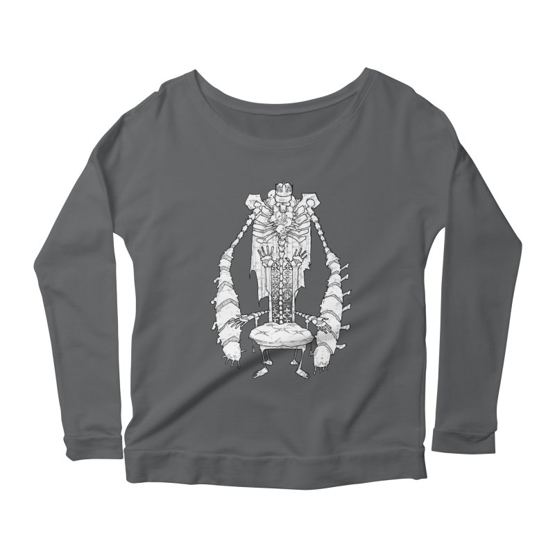 Your Throne. Women's Scoop Neck Longsleeve T-Shirt by Katiecrimespree's Ye Olde Shirt Shoppe