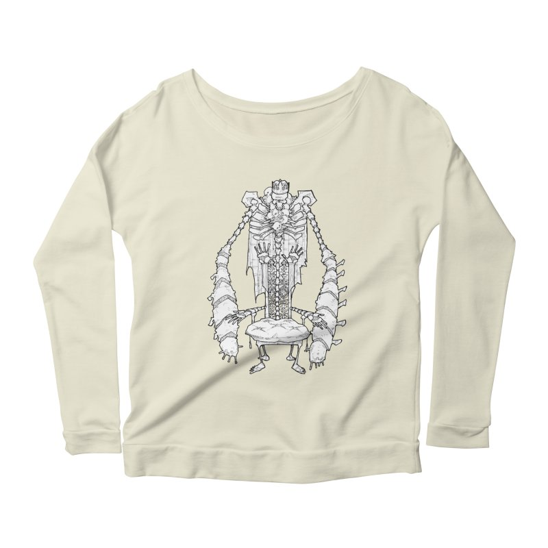 Your Throne. Women's Longsleeve Scoopneck  by Katiecrimespree's Ye Olde Shirt Shoppe