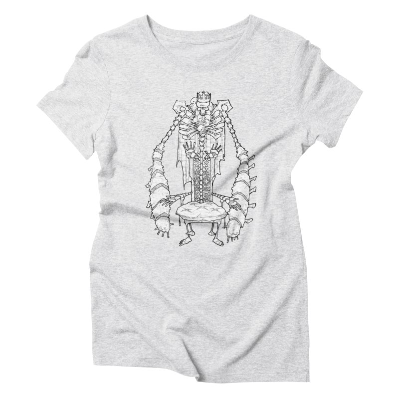 Your Throne. Women's Triblend T-Shirt by Katiecrimespree's Ye Olde Shirt Shoppe