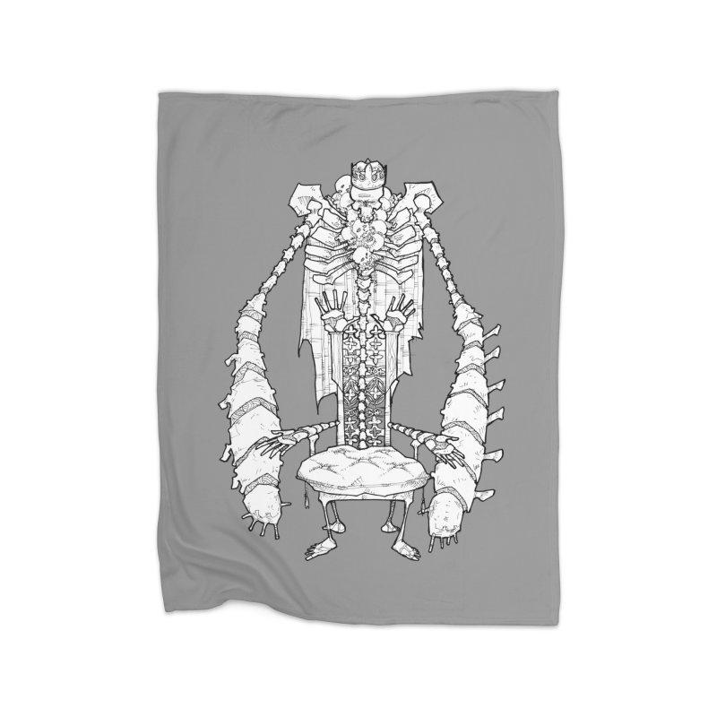 Your Throne. Home Fleece Blanket Blanket by Katiecrimespree's Ye Olde Shirt Shoppe
