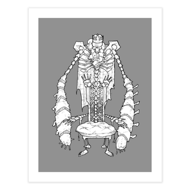 Your Throne. Home Fine Art Print by Katiecrimespree's Ye Olde Shirt Shoppe
