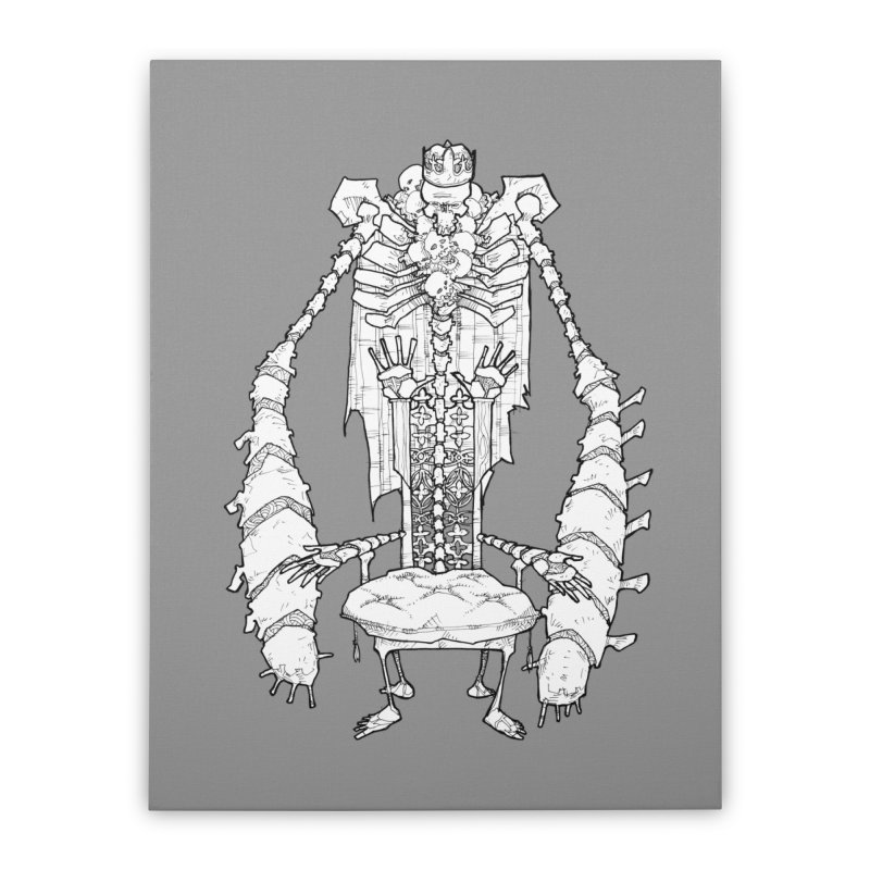 Your Throne. Home Stretched Canvas by Katiecrimespree's Ye Olde Shirt Shoppe