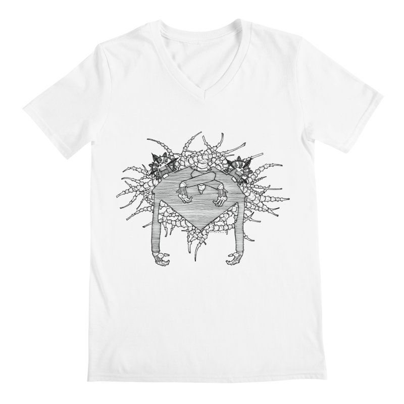 Rorschach Men's V-Neck by Katiecrimespree's Ye Olde Shirt Shoppe
