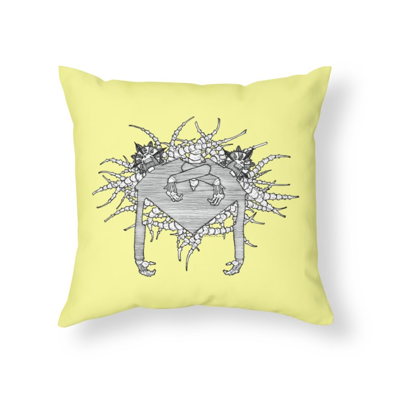Rorschach Home Throw Pillow by Katiecrimespree's Ye Olde Shirt Shoppe
