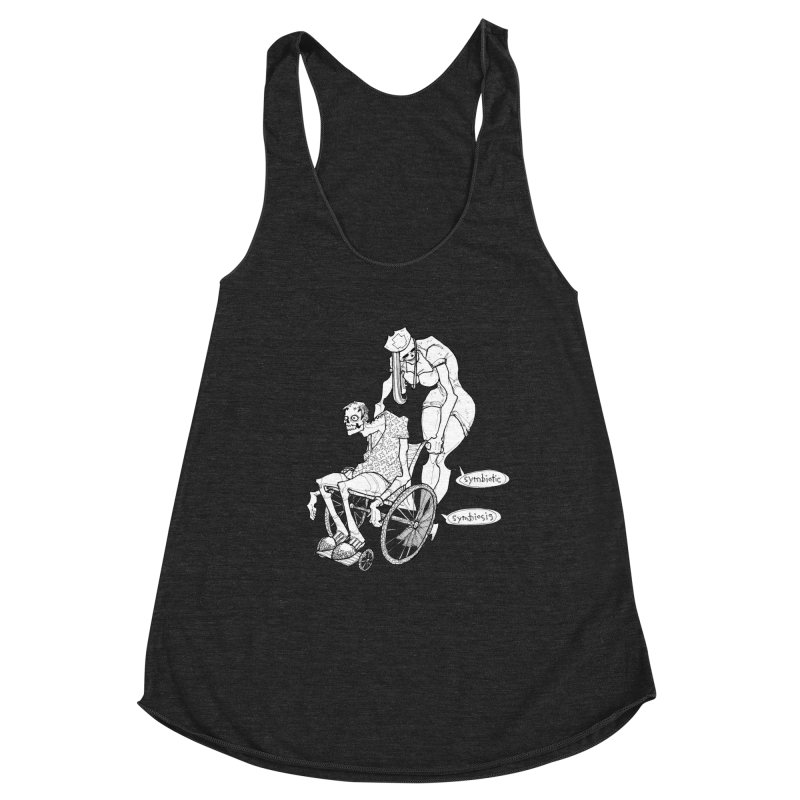 Symbiotic Symbiosis Women's Racerback Triblend Tank by Katiecrimespree's Ye Olde Shirt Shoppe