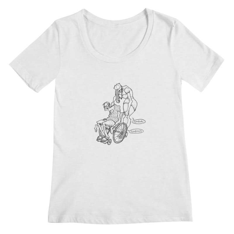Symbiotic Symbiosis Women's Scoop Neck by Katiecrimespree's Ye Olde Shirt Shoppe