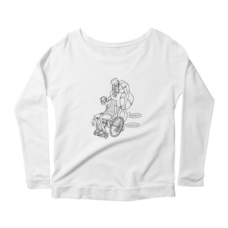 Symbiotic Symbiosis Women's Longsleeve Scoopneck  by Katiecrimespree's Ye Olde Shirt Shoppe