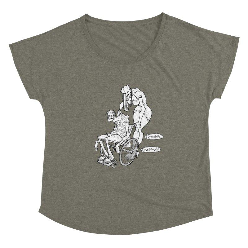 Symbiotic Symbiosis Women's Dolman Scoop Neck by Katiecrimespree's Ye Olde Shirt Shoppe
