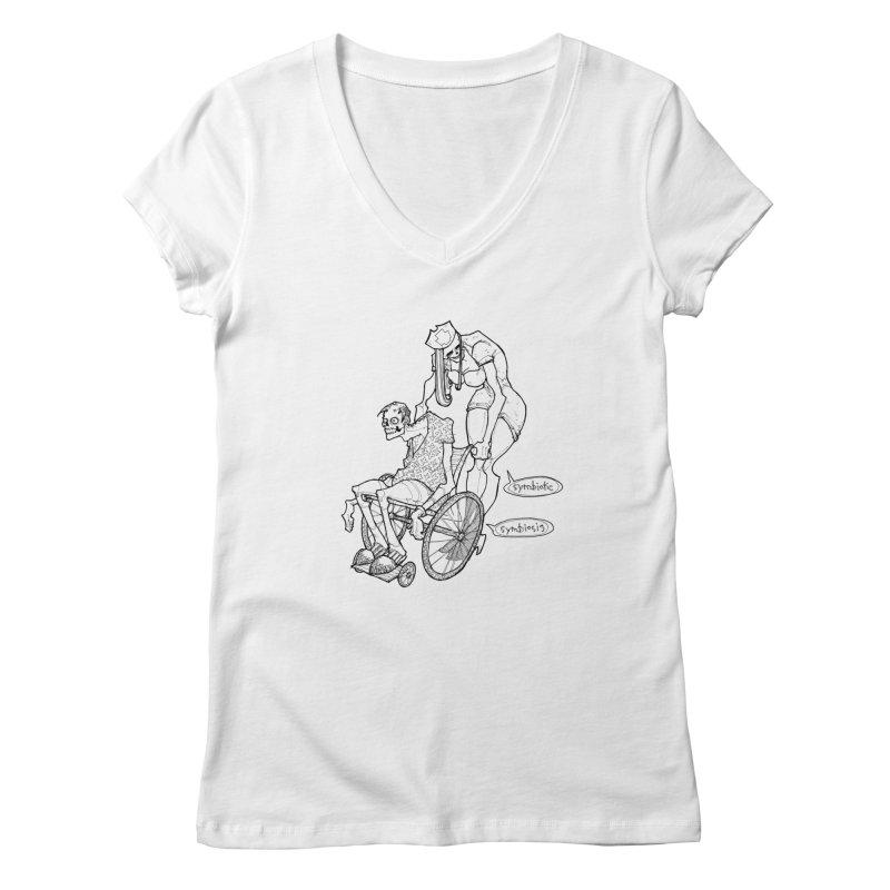 Symbiotic Symbiosis Women's Regular V-Neck by Katiecrimespree's Ye Olde Shirt Shoppe