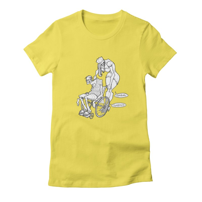 Symbiotic Symbiosis Women's Fitted T-Shirt by Katiecrimespree's Ye Olde Shirt Shoppe