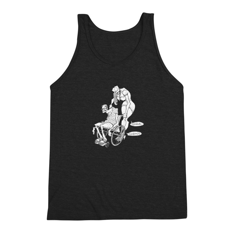 Symbiotic Symbiosis Men's Triblend Tank by Katiecrimespree's Ye Olde Shirt Shoppe