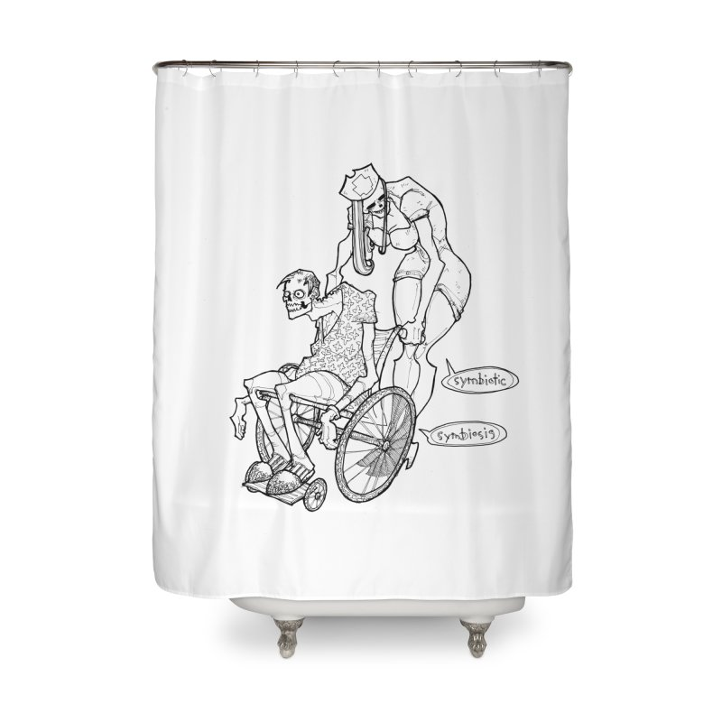 Symbiotic Symbiosis Home Shower Curtain by Katiecrimespree's Ye Olde Shirt Shoppe
