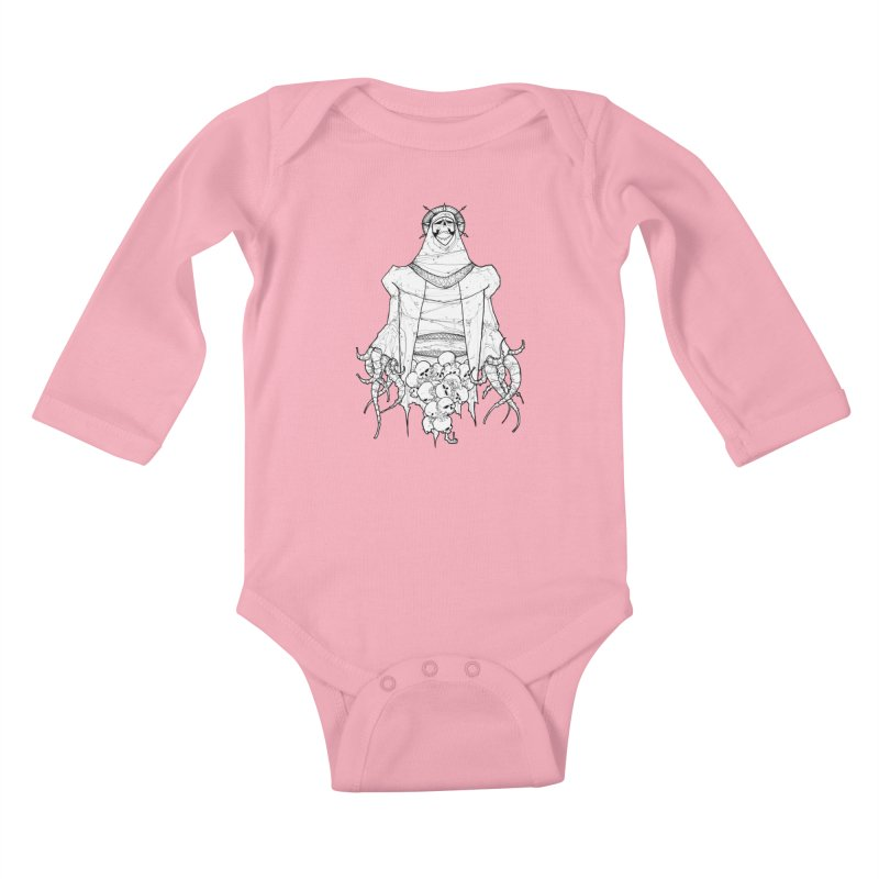 Preaching to Chiors Kids Baby Longsleeve Bodysuit by Katiecrimespree's Ye Olde Shirt Shoppe