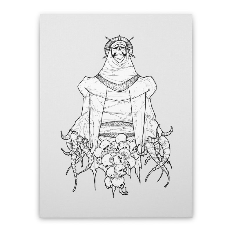 Preaching to Chiors Home Stretched Canvas by Katiecrimespree's Ye Olde Shirt Shoppe