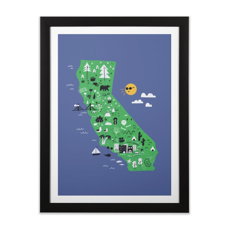 California in Framed Fine Art Print Black by Katie Lukes