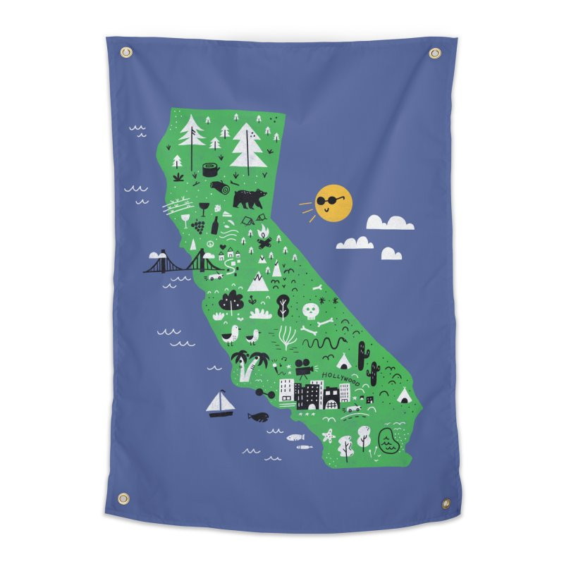 California Home Tapestry by Katie Lukes