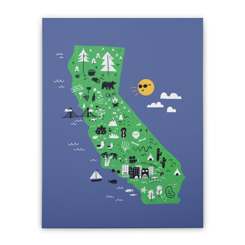 California Home Stretched Canvas by Katie Lukes