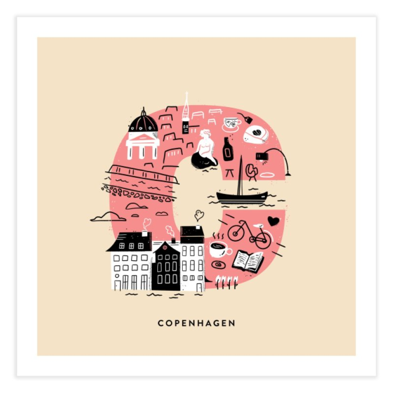 Copenhagen Home Fine Art Print by Katie Lukes