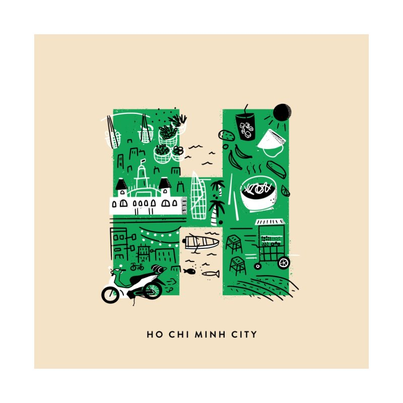 Ho Chi Minh City Home Framed Fine Art Print by Katie Lukes