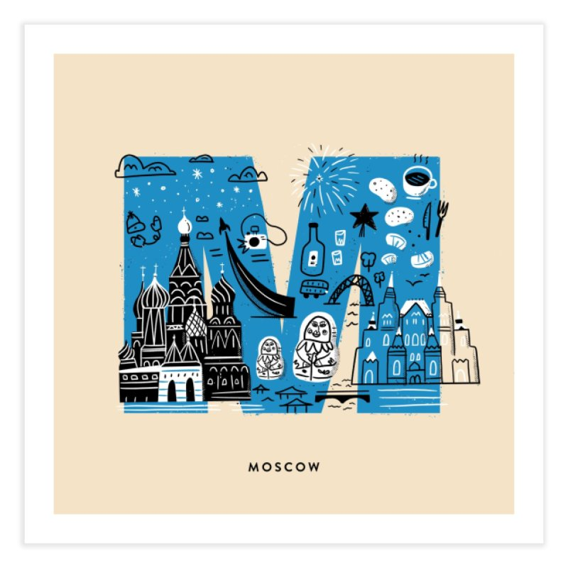 Moscow Home Fine Art Print by Katie Lukes