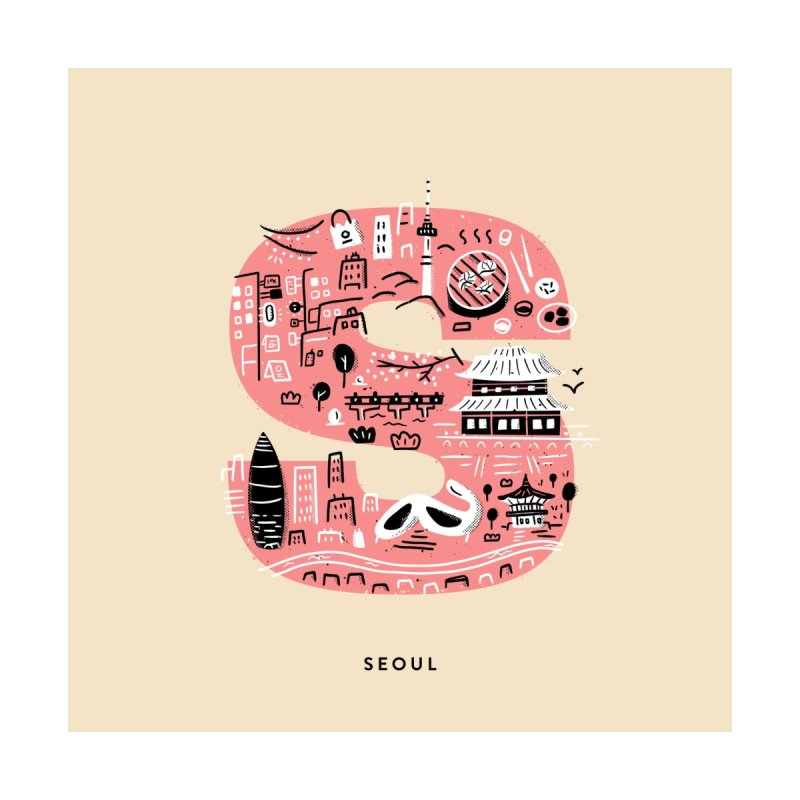 Seoul Home Fine Art Print by Katie Lukes