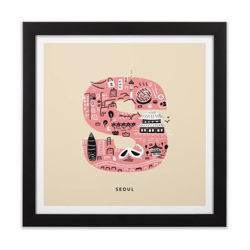 Seoul Home Framed Fine Art Print by Katie Lukes