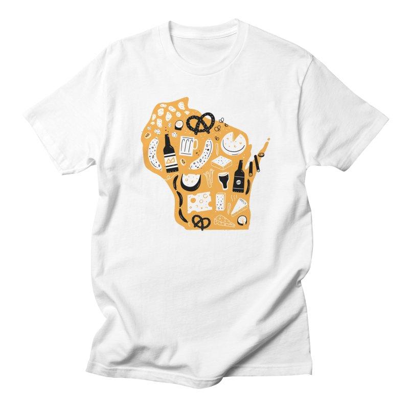 Wisconsin Men's Regular T-Shirt by Katie Lukes