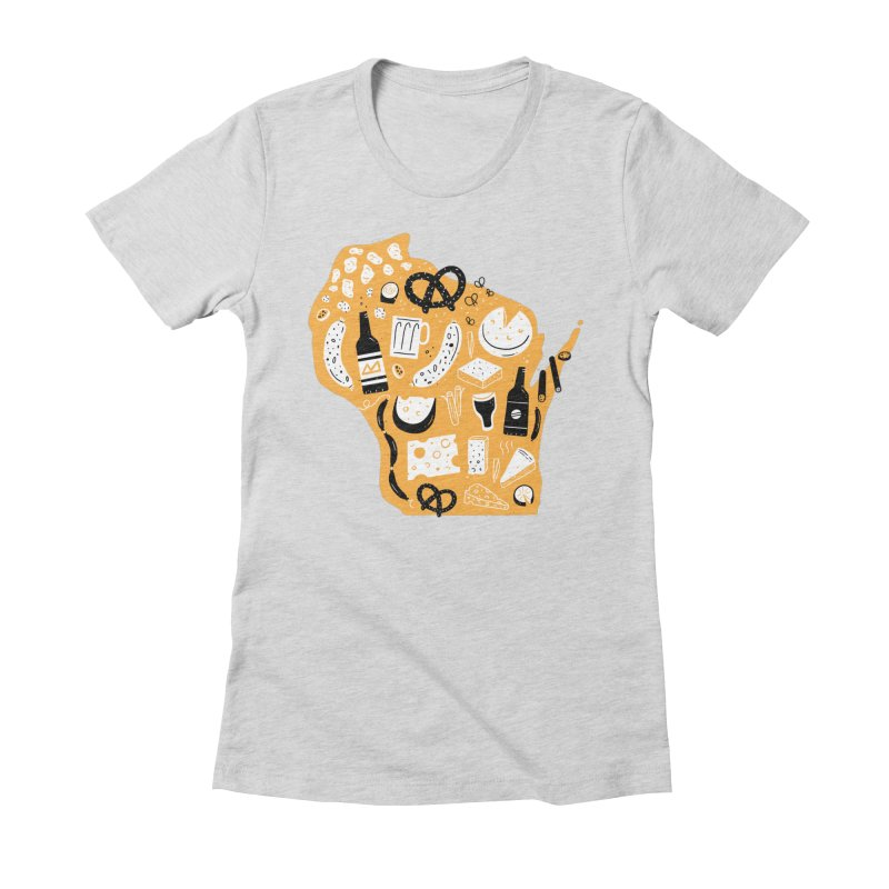Wisconsin Women's Fitted T-Shirt by Katie Lukes