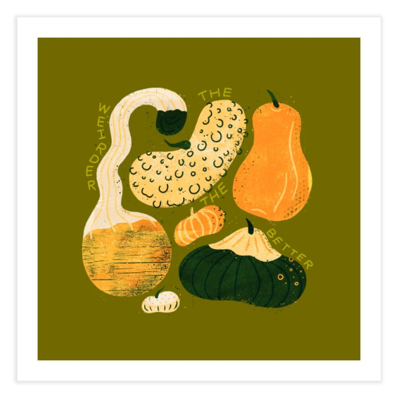Weird Gourds Home Fine Art Print by Katie Lukes