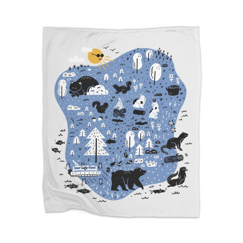 Mountain Island Lake Home Blanket by Katie Lukes