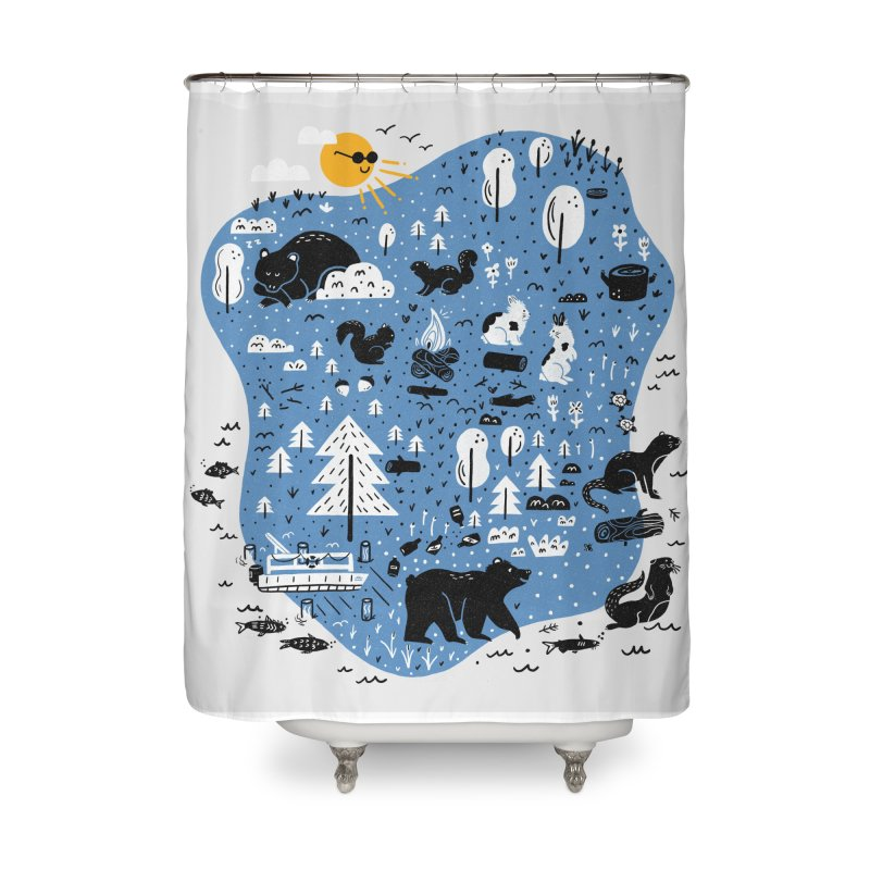 Mountain Island Lake Home Shower Curtain by Katie Lukes
