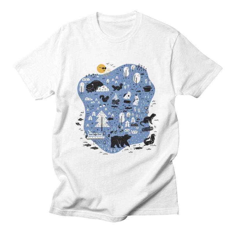Mountain Island Lake Men's T-Shirt by Katie Lukes