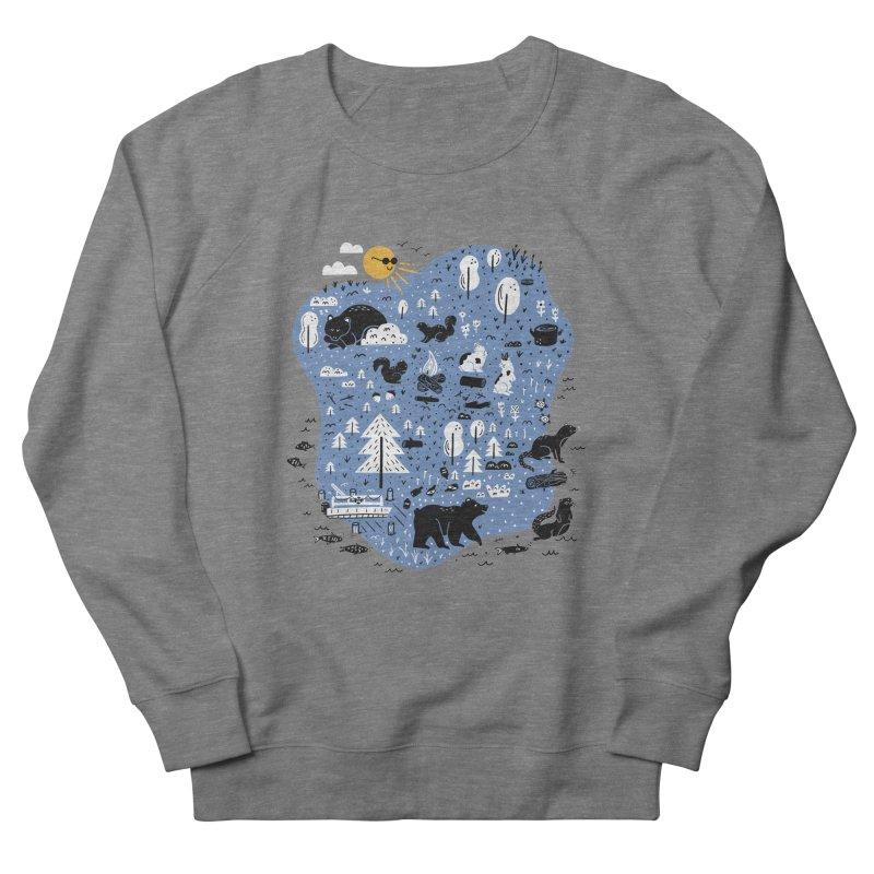 Mountain Island Lake Men's French Terry Sweatshirt by Katie Lukes