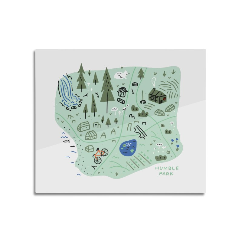 Humble Park Home Mounted Aluminum Print by Katie Lukes