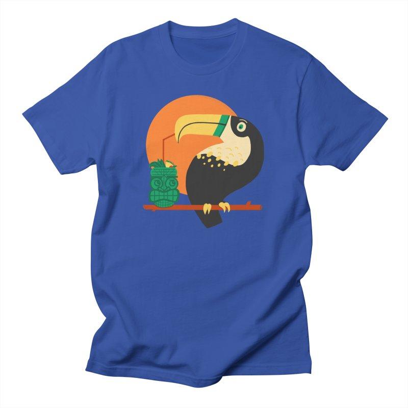 Drunk Toucan Men's T-Shirt by Katie Lukes