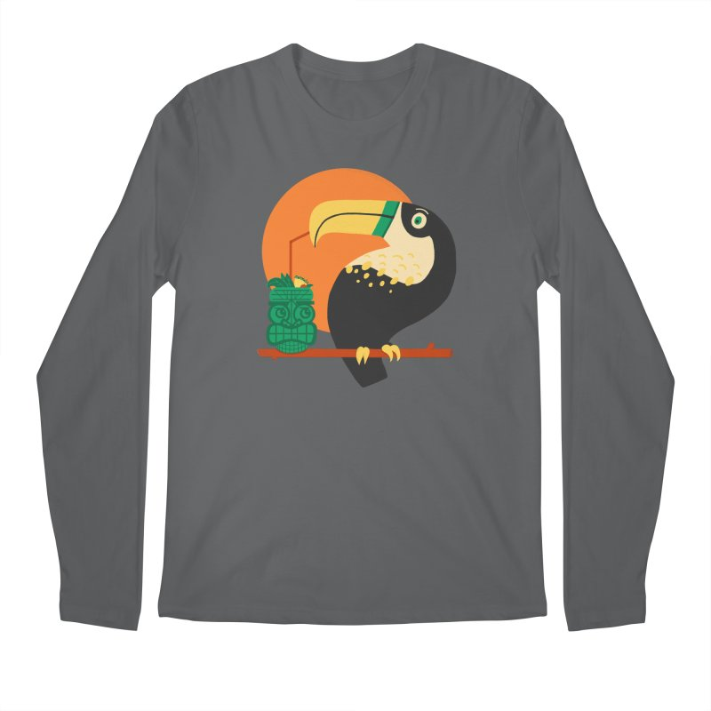 Drunk Toucan Men's Longsleeve T-Shirt by Katie Lukes