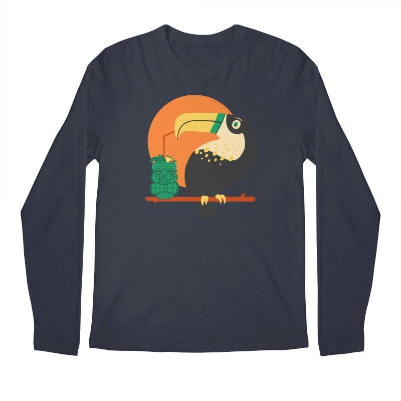 Drunk Toucan Men's Longsleeve T-Shirt by Katie Lukes