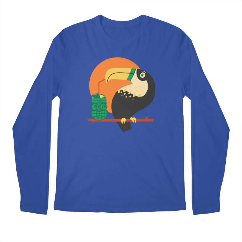 Drunk Toucan Men's Regular Longsleeve T-Shirt by Katie Lukes