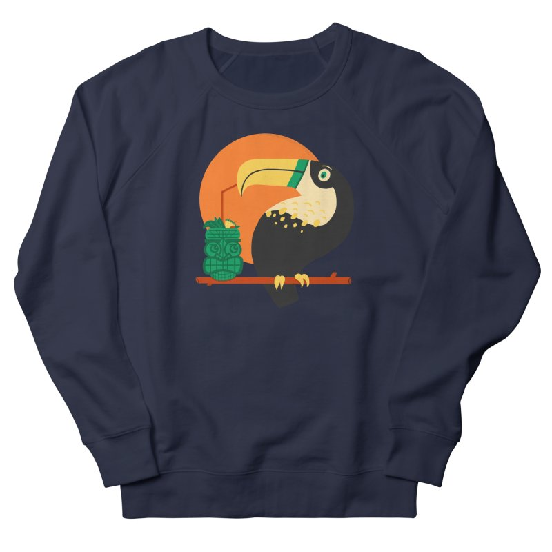 Drunk Toucan Men's Sweatshirt by Katie Lukes