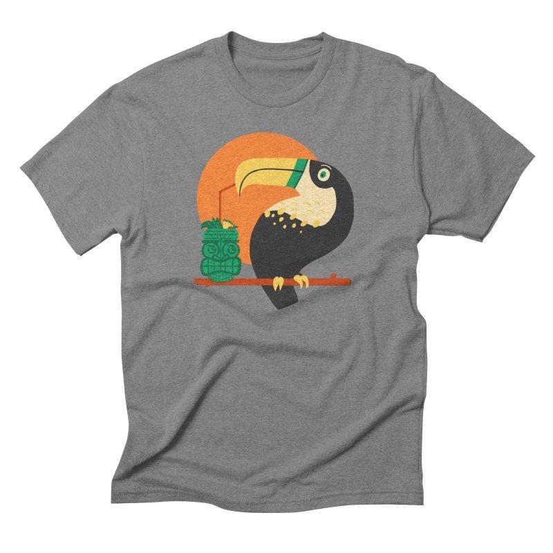 Drunk Toucan Men's Triblend T-Shirt by Katie Lukes