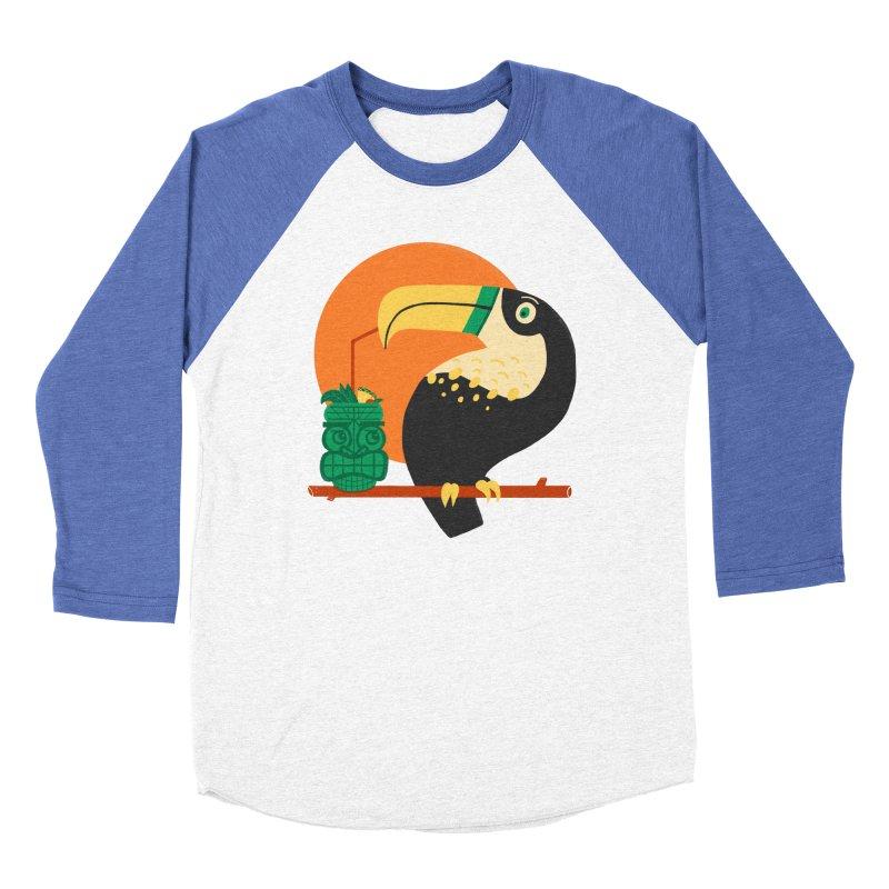 Drunk Toucan Women's Baseball Triblend T-Shirt by Katie Lukes
