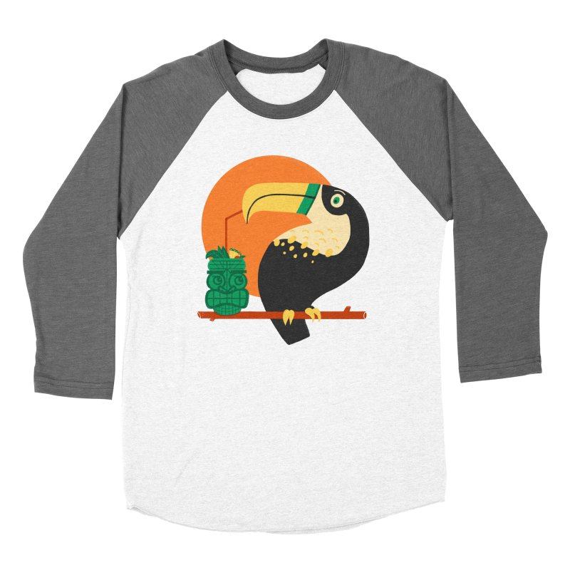 Drunk Toucan Women's Baseball Triblend Longsleeve T-Shirt by Katie Lukes